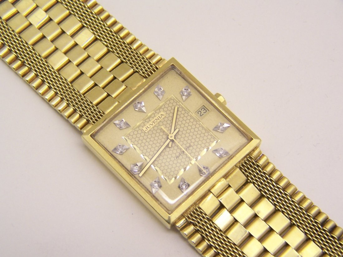 juvenia Macho 18k gold men automatic watch - 9