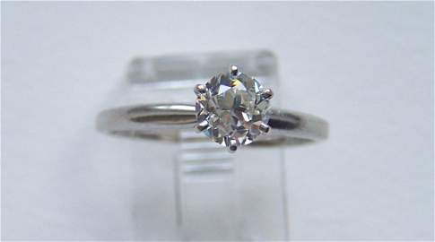 14k .90 Old European cut diamond solitaire ring