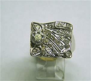 Art Deco 14k 2 ctw old mine cut diamond ring