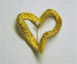 MONTCLAIR 18k gold diamond brooch pin