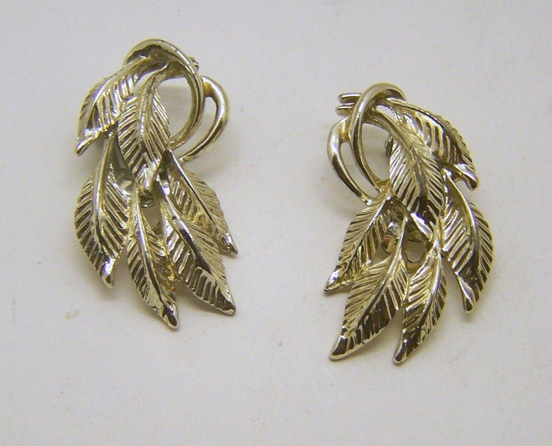 CLAUDETTE gold tone earrings