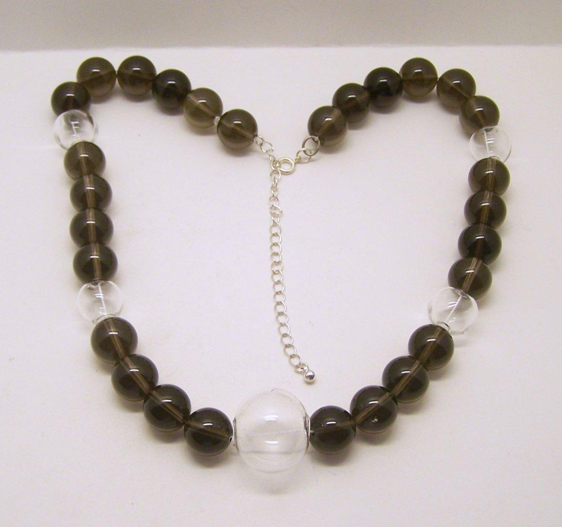 huge smoky quartz necklace