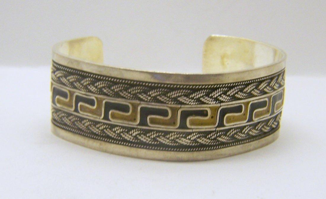 950 sterling silver enamel cuff bracelet