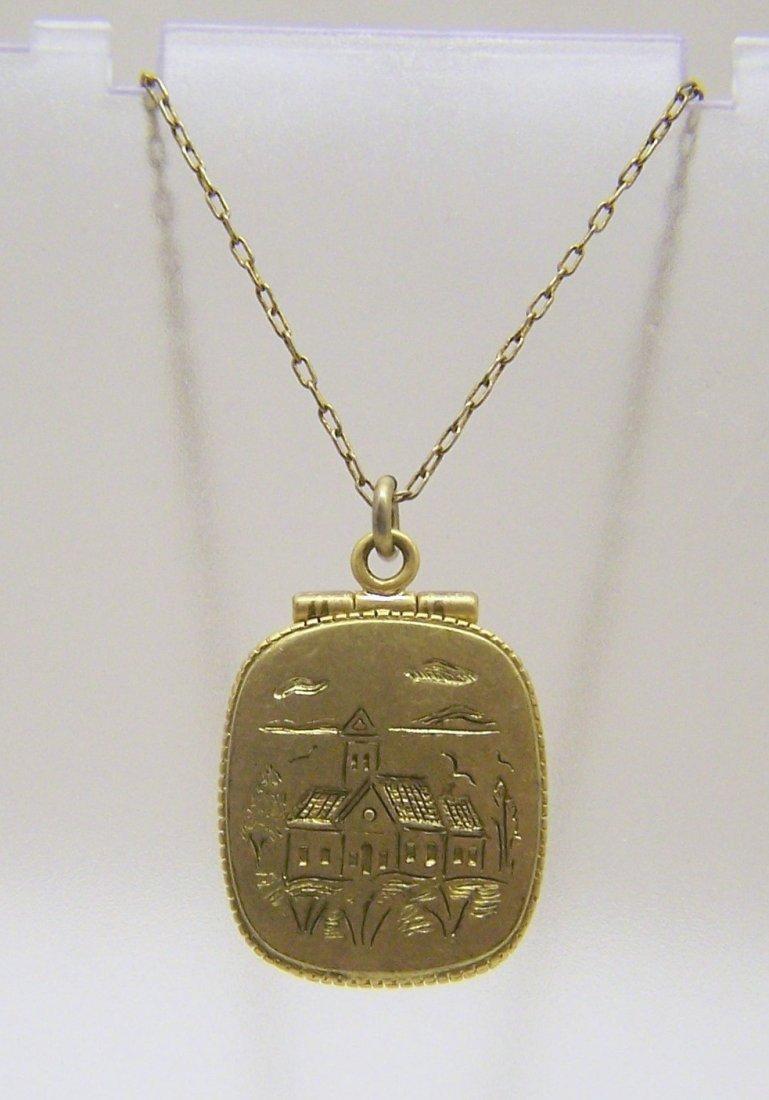 J CREW brass necklace
