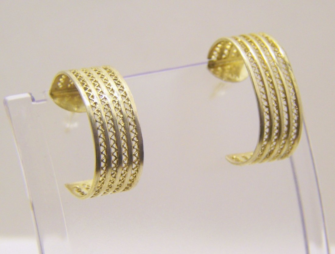 MMA gold over sterling silver earrings