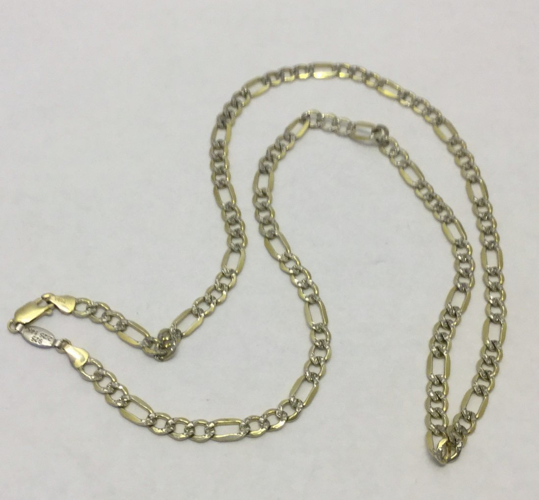 PGDA sterling silver 14k gold link chain necklace