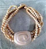 rare PATRICIA VON MUSULIN carved ivory necklace