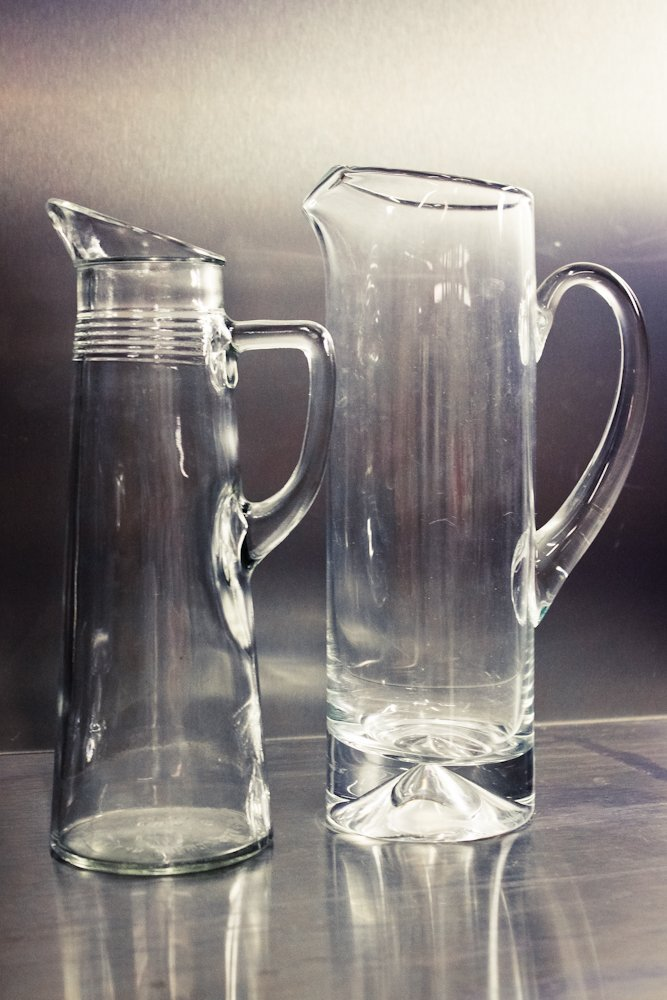 EAPG Blown Glass Water Pitchers