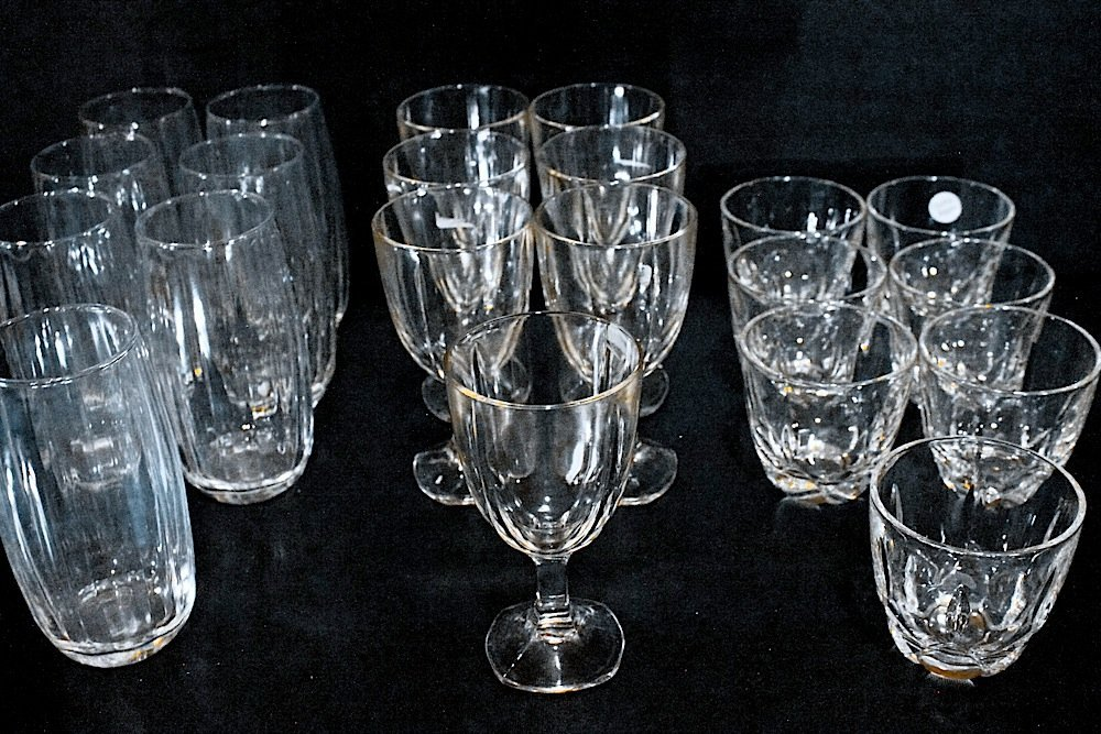 Vintage Crystal Tumblers Tea Glassware Lot (7)
