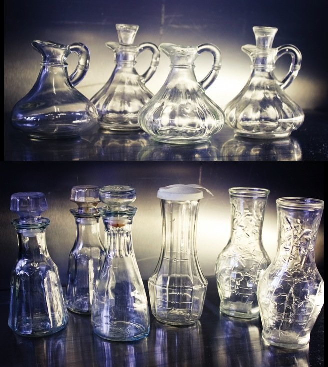 EAPG Glass Cruets & Bottles Salad Dressing Bottles (10)