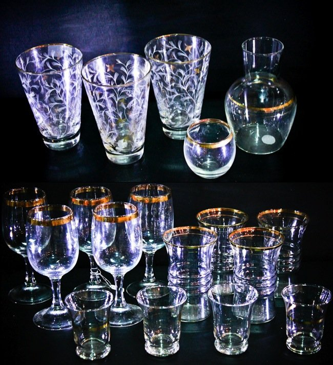 Misc Gold Gilded Libbey Glassware