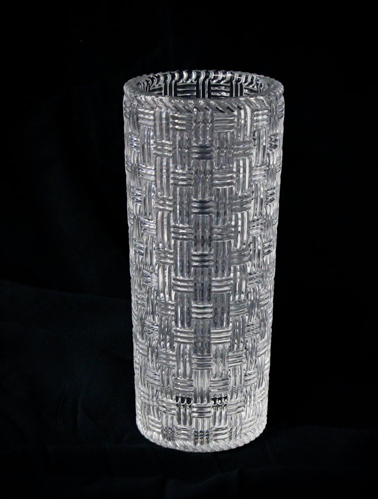 Tiffany & Co. Crystal Woven Cylinder Vase Tiffany