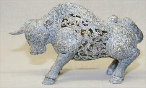 Archaic mythical jade beast. Han Period