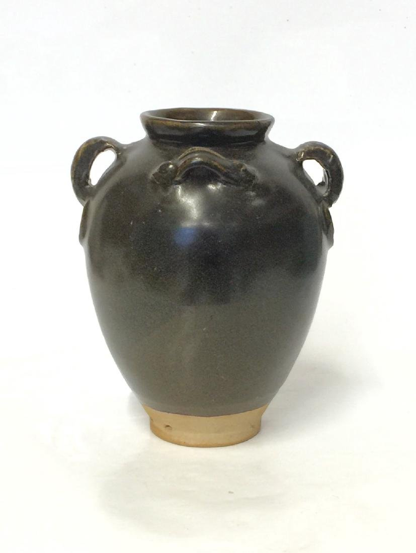Black glaze junyao vase. Tang thru Song Period. - 5