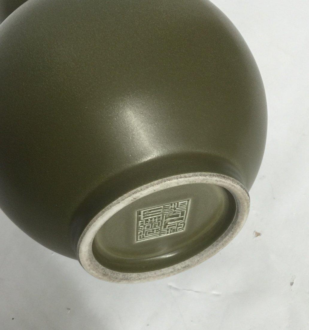 Teadust double gourd vase. Qing Yongzheng Mark. - 3