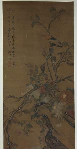 Painting on silk by Zhou Yi Gui.