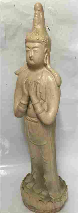Large pottery Buddha. Song Period.