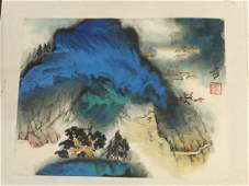 Booklet of 10 paintings by Zhang Da Qian.
