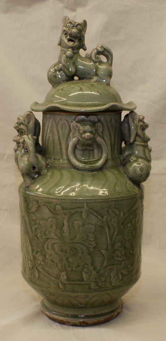 Green glaze jar.
