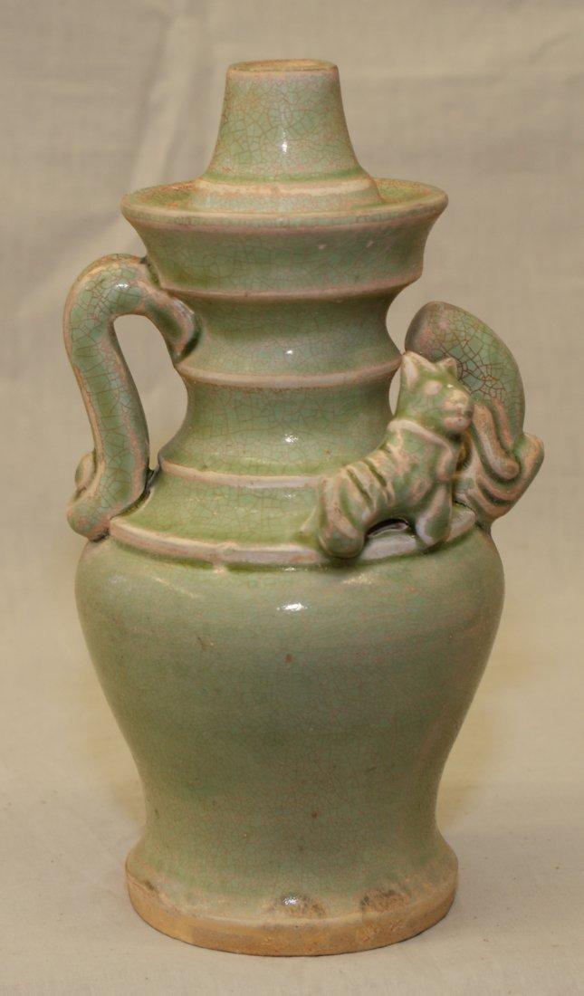 Green glaze vase.  Tang thru Ming Period.