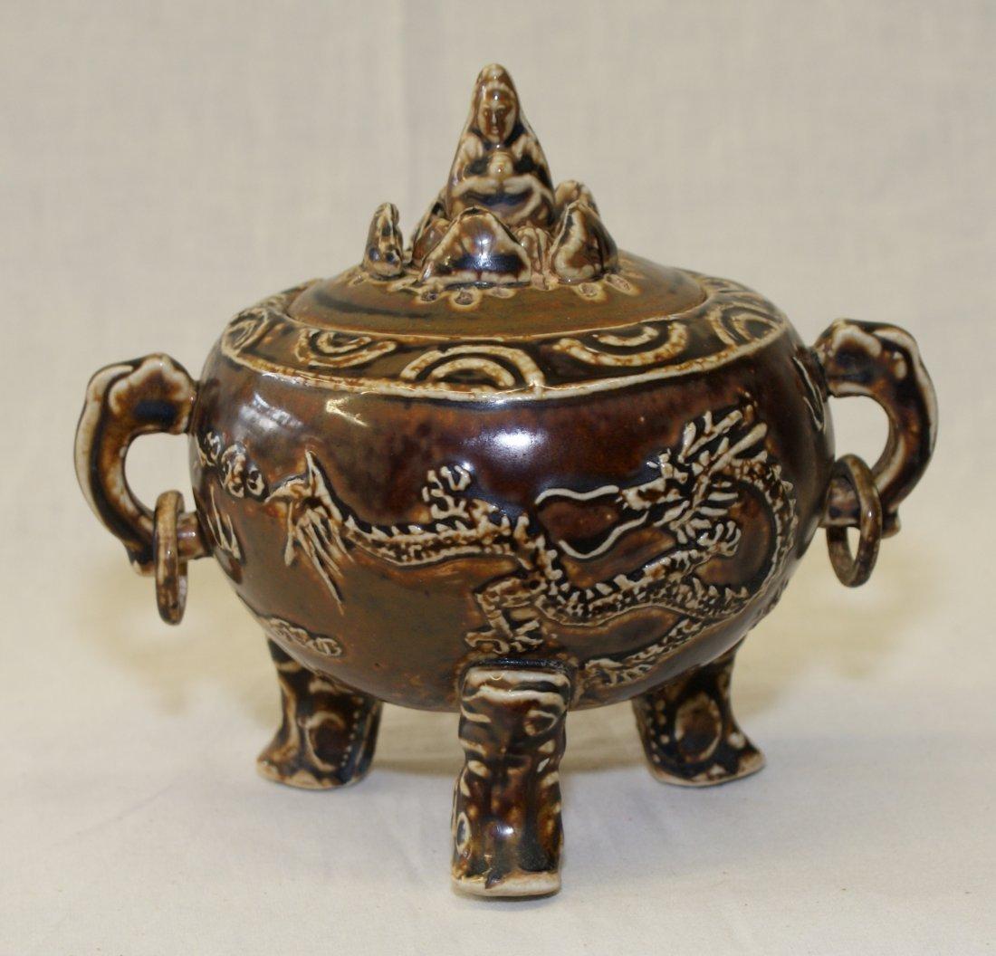 Brown glaze censer, Song thru Ming Period.