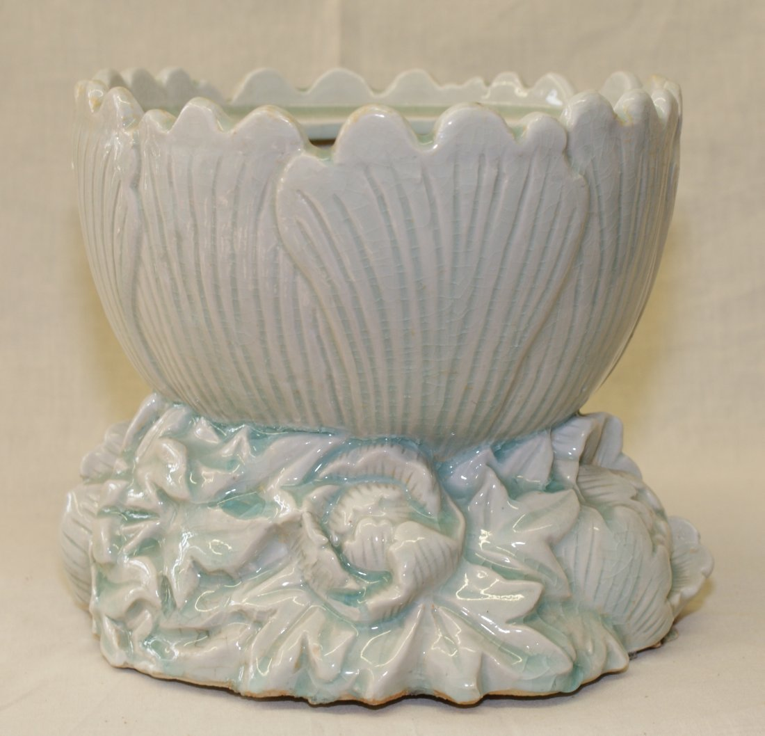 Yingqing glaze flower vase.  Song thru Ming Period.