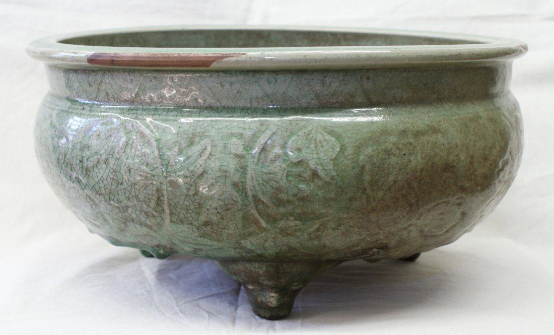 Green glaze longguan washer, Ming Period.