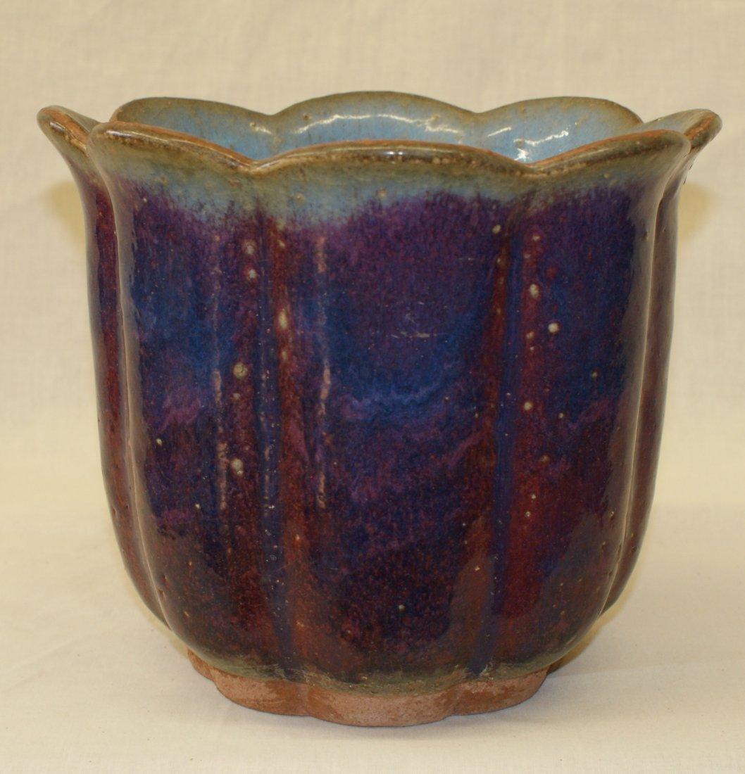 Junyao flower pot.  Song Period.
