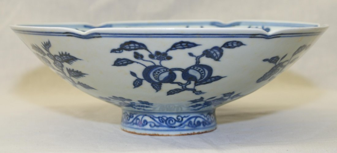 Blue and white bowl, Ming Xuande Mark.