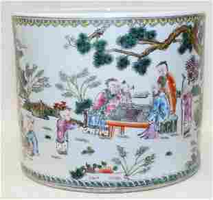 Famille rose bitong. Qing Yongzheng Mark.