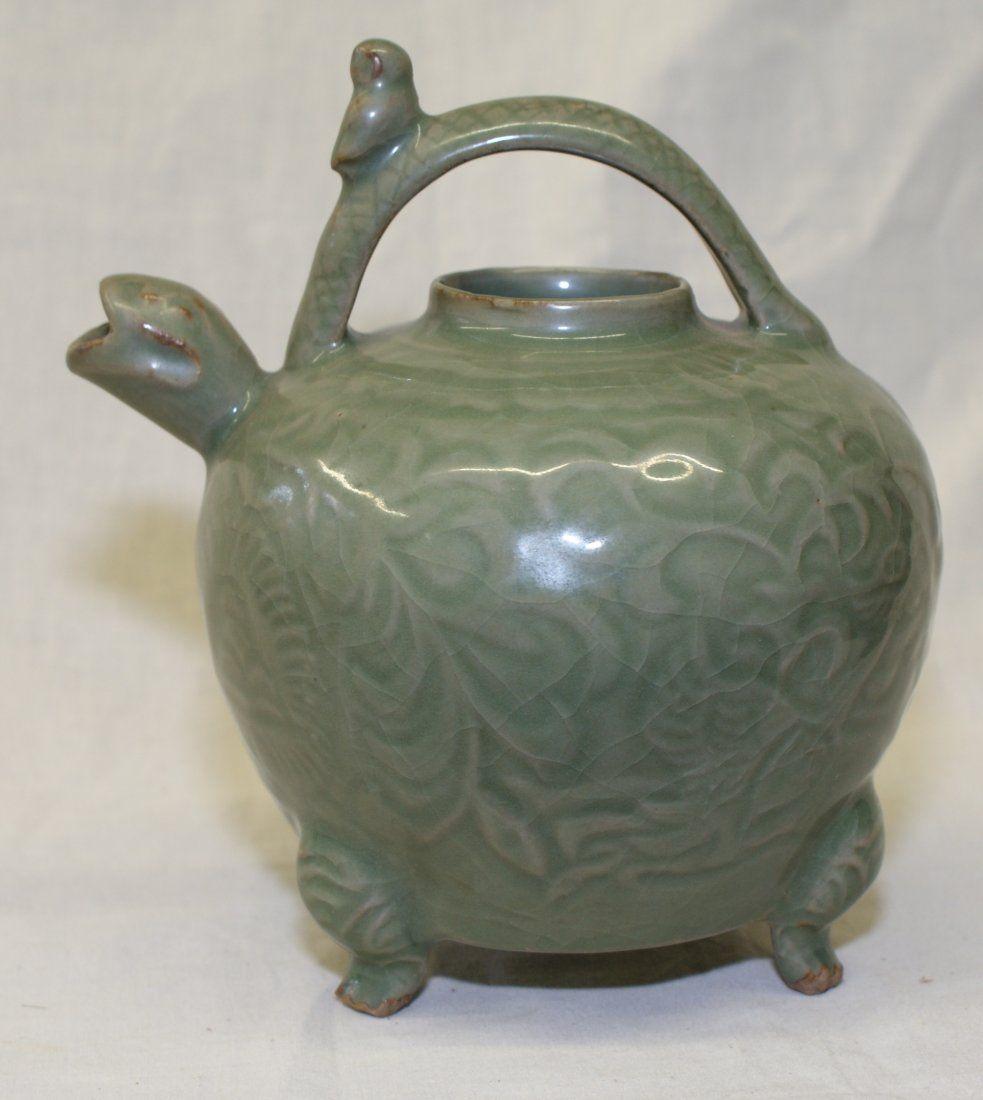 Green glaze ewer. Ming Period.