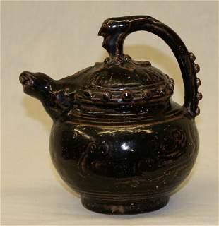 Black glaze ewer. Song thru Ming Period.