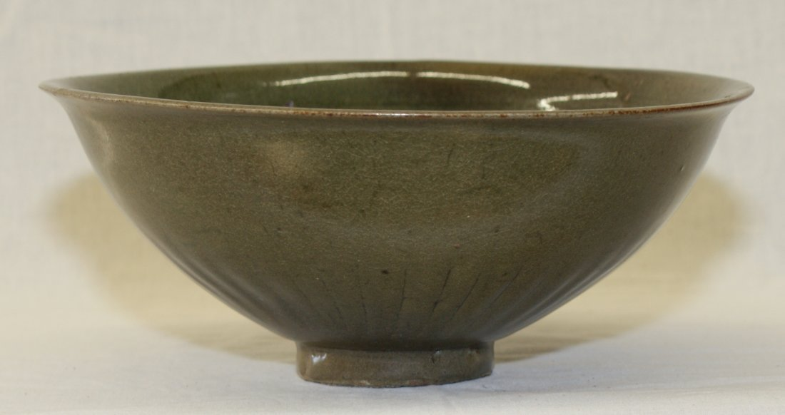Green glaze bowl. Song thru Ming Period.