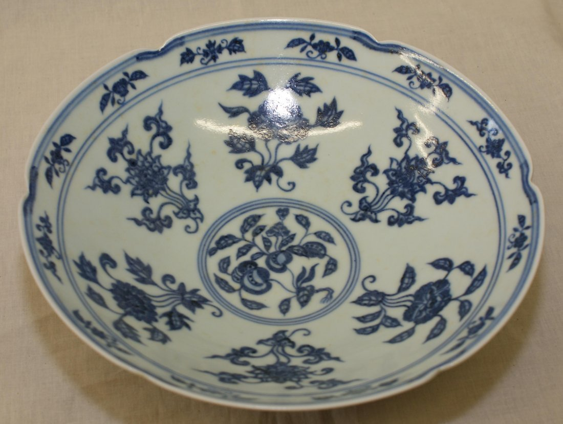 Blue and white bowl, Ming Xuande Period. - 2