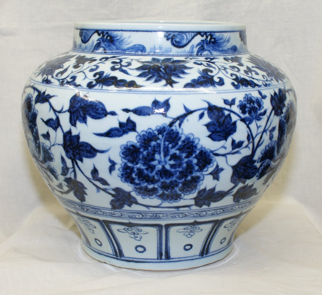 Blue and white jar.  Yuan Period.