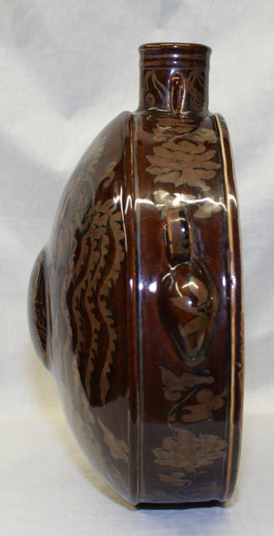 Dragon phoenix moon flask, Ming Period. - 3
