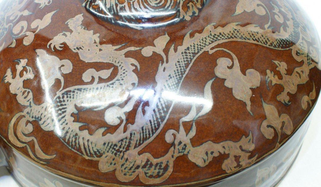 Dragon phoenix moon flask, Ming Period. - 5