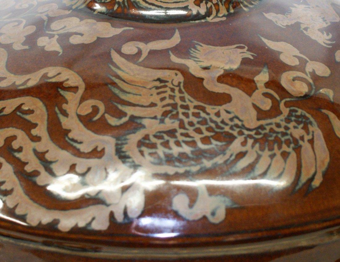 Dragon phoenix moon flask, Ming Period. - 6