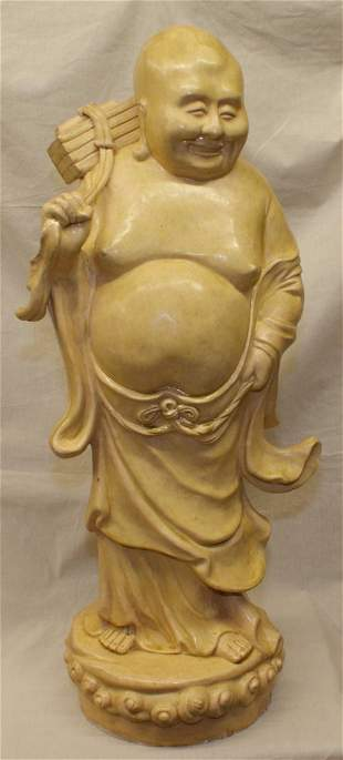 Large yellow glaze luohan, Song Period.
