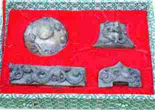 Set of white-jade decoration for sword. Han