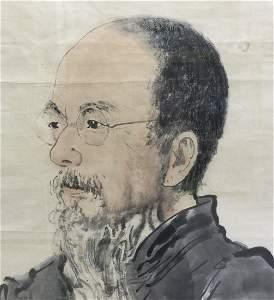 Framed painting of Qi Bai Shi by Jiang Zhao He.