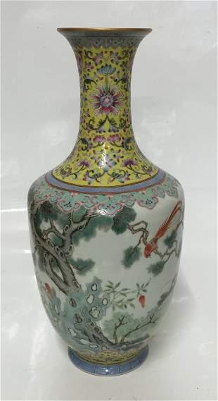 Famille rose vase. Qing XianFeng Mark.