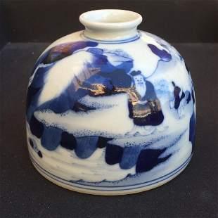 blue and white waterdropper. Qing Kangxi Mark.