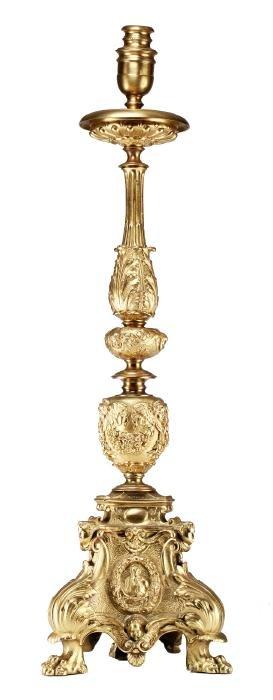 Tiffany Studios Gold Dore Bronze Lamp Base S4SD6