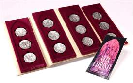 Franklin MInt 12 Sterling Medallions by Pietro Montana