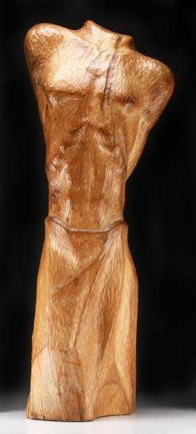 Walter Dreisbach (American, 1929-2015) Wood Sculpture,