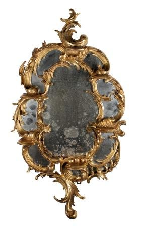 German Gilt Carved Wood Mirror