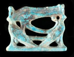 Egyptian Faience Eye Of Horus Pendant