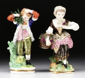 Pair of English 18th / 19th C. Derby Porcelain