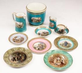 Eleven Assorted English Prattware Porcelain